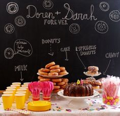 my next soiree - a donut party.