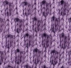 """#Knitting_Stitch - """"A Simpler Honeycomb - In this stitch you only cross one in front or back. You can learn to do this without cable needles. Great texture and depth in this simple stitch."""" comment via #KnittingGuru"""