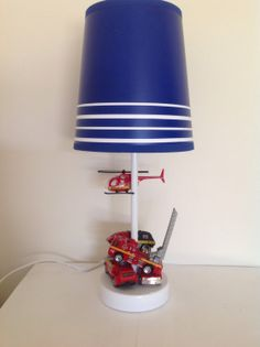 RESERVED Fireman. Upcycled Toy Lamps Toys in all their by ToyGlory, $30.00