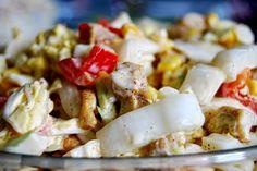 Gospodyni Miejska: Sałatka z kurczakiem, kapustą pekińską, kukurydzą i papryką