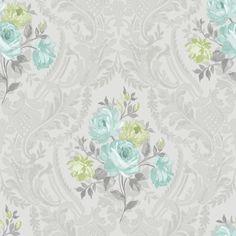 tapet trandafiri turcoaz · 98154