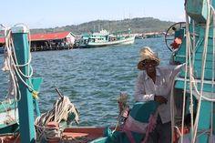 Fisherman at the Fishing Port in Sihanoukville Cambodia