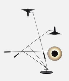 cosascool: The easily adjustable Type 600 counterpoised standard lamp was designed and constructed by Rosmarie and Rico Baltensweiler for their own use in 1950.