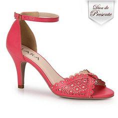 Sandália Salto Lara 51702215  - Pink
