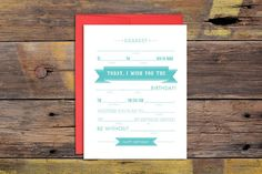 Mad Libs Happy Birthday Letterpressed Greeting by ruffhouseart