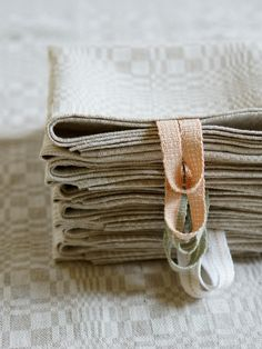 Pressed and stacked :) our new #handmade tea towels