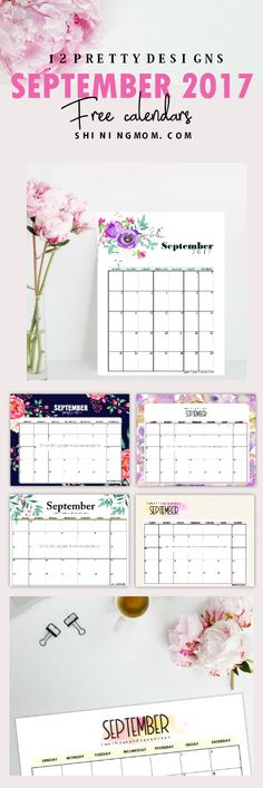 Print out this FREE September 2017 calendar set to plan a productive month ahead! They all pretty!