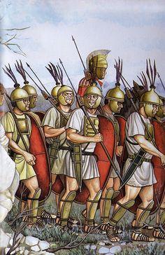 """""""Legionarios romanos cerca de Numancia, 134 aC."""", Ángel García Pinto"""