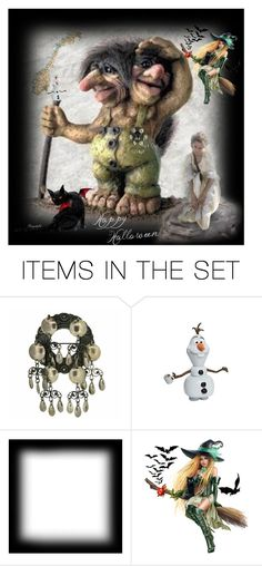 """""""Happy Halloween with a Real Troll from Norway"""" by ragnh-mjos ❤ liked on Polyvore featuring art, norway, Troll, artset and happyhalloween"""