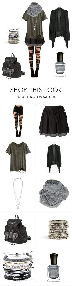 """""""Strega with a t-shirt"""" by shortcuttothestars ❤ liked on Polyvore featuring Sam&Lavi, H&M, MANGO, Maison Margiela, A Postcard From Brighton, claire's, GUESS, Domo Beads and Deborah Lippmann"""