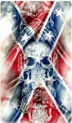 Southern Pride Southern heritage proud of and love my heritage and not ashamed to show and speak of it Southern Heritage, Southern Pride, Southern Style, Skull Pictures, Cool Pictures, Rebel Flag Tattoos, Totenkopf Tattoos, Skull Wallpaper, Tattoo Motive