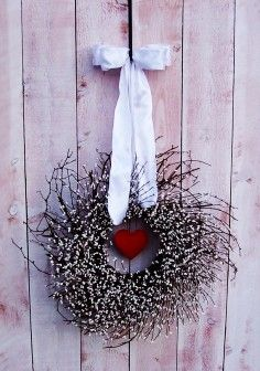 primitive valentine decor   Personalized Christmas Deco Mesh Wreath, Holiday Christmas... - Decor ...