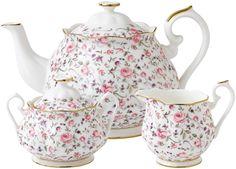 Royal Albert Rose Confetti - Teapot Set
