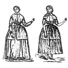 Amazon Drygoods - Ladies' Working Dress c. 1859, $15.00 (http://www.amazondrygoods.com/products/ladies-working-dress-c-1859.html)