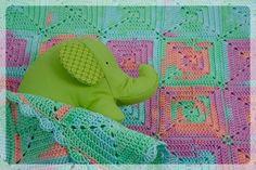 Rose Petals Baby Blanket, Crochet, Handmade, Cotton