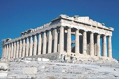 Greece and see the ruins.  This is the Parthenon.