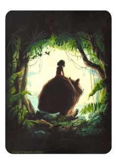 Jungle book - illustration by Quentin Greban