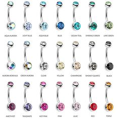 Basic Belly Rings for your navel piercing. Every girl needs at least one basic belly bar in her collection. Daith Piercing, Bellybutton Piercings, Peircings, Cartilage Earrings, Ear Plugs, Piercings For Girls, Cute Piercings, Body Piercings, Cute Belly Rings