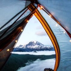 Or this twilight view of Mt. Rainier from the comfort of a tent? | 17 Sublime Camping Views Guaranteed To Excite Your Wanderlust