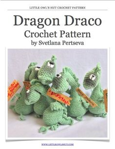 Dragon Crochet Pattern. Amigurumi toy.