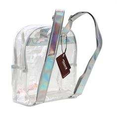 Material: plastic Color: clear Korean style PVC clear mini backpack, simple stylish and comfortable, perfect for school,summer beach trip, etc. Quality stitching,laser material double shoulder straps,creative crystal beads decoration, high-end, beautiful and trendy. Vertical square shape zipper jelly package,features with left and right side pockets design, with enough space for A4 magazine, apid, keys and snacks. Product size: 10.2 x5.1 x11. | eBay!