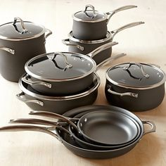 Williams Sonoma features a complete selection of Calphalon cookware sets, including the Calphalon pot sets and Calphalon pan sets. We also offer the latest Calphalon nonstick cookware. Kitchen Sets, Kitchen Pantry, Kitchen Utensils, Cooking Utensils, Calphalon Cookware, Cookware Set, Cooking Gadgets, Kitchen Gadgets, Cooking Tools