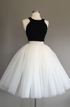 2017 homecoming dresses, A-line homecoming dreses, two pieces homecoming dresses, tulle homecoming dresses, short prom dresses, party dresses, graduation dresses#SIMIBridal #homecomingdresses