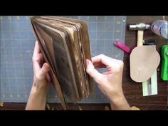 This is a brief video of how I made the covers, spine, and the binding for my homemade journal/mini album.