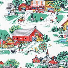 Morningside Farm Cotton Fabric by Darlene Zimmerman for Robert Kaufman. Excellent quality, fine, light-weight 100% cotton fabric. Suitable for dressmaking, quilting & crafts. Buy It Here!