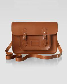 "15"" Classic Leather Satchel, Vintage by Cambridge Satchel Company at Neiman Marcus."