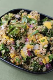 28 Cooks: Quinoa Broccoli Salad with Mango, Red Onion, and Indian Vinaigrette