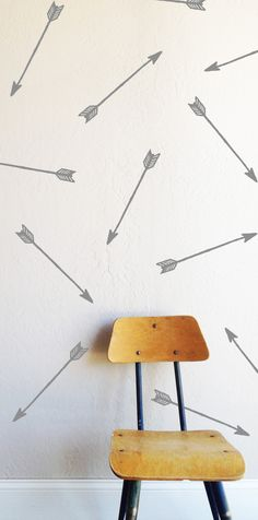 "16 INDIVIDUAL 1.5"" x 16"" arrows Fully removable and reusable wall decals that will brighten and add character to any room. **PLEASE NOTE THAT METALLIC VINYL IS NOT REUSABLE** 100% polyester fabric sel"