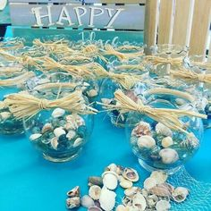 Crimp vase centerpieces