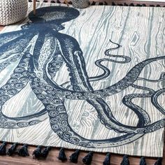 Found It At Wayfair   Hand Woven Octopus Ivory Area Rug