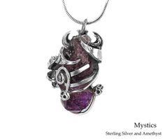 Mystics : £170 Mystic, Amethyst, Pendant Necklace, Jewellery, Collection, Fashion, Moda, Jewels, Jewelry Shop