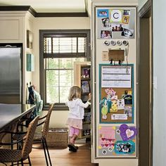 If you're limited on wall space, here's a Command Center on the end of cabinets.  I like the use of vertical space. Maybe this could work too. http://store.theorganizedparent.com/organized/category/prod220132/New-OP-Mail-Organization/Wally-Wall-Organizer-by-Kangaroom-?skuId=38665