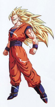 80s & 90s Dragon Ball Art — jinzuhikari: Goku ssj3 from Dragon Ball z...