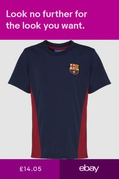 5d4903c9 Barcelona FC Official Football Gift Boys Poly T Shirt Short Sleeve Top  Training