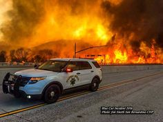 CHP at the blazing fires of the Blue Cut Fire!