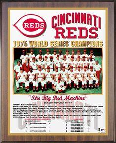1975 World Series Champion Reds World Series Winners, Baseball Series, Baseball Classic, Johnny Bench, Cincinnati Reds Baseball, Pete Rose, Baseball Pictures, Go Red, Diamond Are A Girls Best Friend