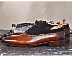 FOR MEN : TucciPolo Mono-BR Mens Handmade Elegant Style Italian Leather Luxury Fashion Dress Shoe