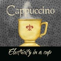 Electricity in a Cup Cappuccino by Barb Tourtillotte 12x12 in.