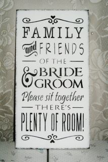 Wooden Wedding Sign! Black and white- comes in custom colors. Lets your guests know there is no seating assignment! OPEN SEATING :)