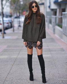 Blogger Paola Alberdi in the Vika Mini Skirt