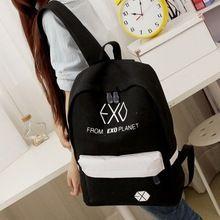 2015 nuevas mujeres de coloridas mochilas de lona mochilas hombres bolsos de escuela del estudiante para chica chico Casual viaje bolsas EXO Mochila569(China (Mainland))