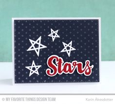 Count the Stars stamp set and Die-namics, Lucky Stars Die-namics, Stars & Wishes Die-namics, Tiny Stars Background - Karin Åkesdotter #mftstamps