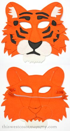 Love this tiger play mask from @mouseandmoose - handmade & made in Canada!