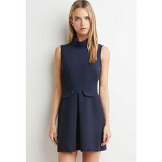 Love 21 Pleated Sheath Dress (€27) ❤ liked on Polyvore featuring dresses, full length dress, love 21, pleated dress, sheath dress and love 21 dresses