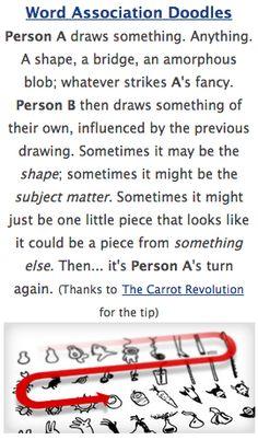 word association doodles