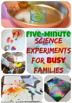 Easy and Fast Science Experiments for Kids A collection of fast science experiments for busy parents and kids! These simple and fast science experiments are easy to set up, execute, and clean up. Science Experiments For Preschoolers, Kids Learning Activities, Science For Kids, Stem Activities, Expirements For Kids, Preschool Ideas, Summer Activities, Toddler Activities, Teaching Ideas